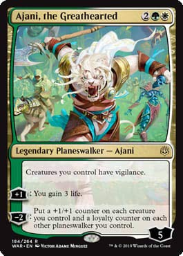 Magic: the Gathering - Ajani, The Greathearted - Ajani dal Cuore Grande - War of The Spark