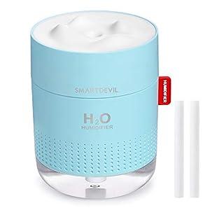 SmartDevil Humidificador 500ml, humidificadores ultrasónicos de aire con alimentación USB, apagado automático para el el hogar, dormitorio, la oficina,Sin batería,Aceite esencial prohibido - 2 Filtros