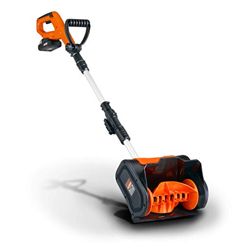 SuperHandy Snow Thrower Shovel Electric Cordless DC 20V 10  inch Width 5  inch Depth 25  feet Throwing Distance 300 LBS Minute
