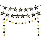 Hamilton Birthday Banner, Gold Black Glitter Hamilton Inspired Birthday Banner, American Musical Theme Birthday Party Supplies, Hamilton The Musical Birthday Party Decorations (Pre-strung)