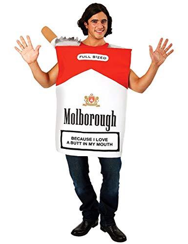 ORION COSTUMES Disfraz Unisex de Paquete de Cigarrillos Gigante Novedoso Despedida de Solteros