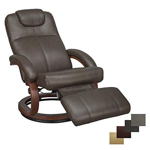 RecPro Charles 28' RV Euro Chair Recliner Modern Design RV Furniture (1, Chestnut)