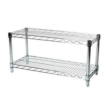 Quantum Storage 4-Shelf Adjustable Wire Shelving Unit, 300 lb. Load Capacity per Shelf, 72 H x 48 W x 24 D, Chrome Finish