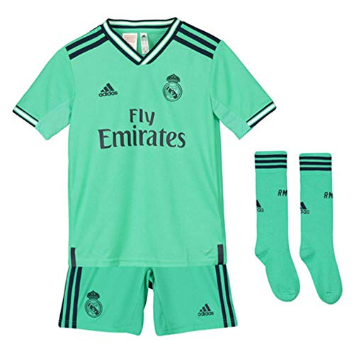 adidas Real Madrid Mini-Evasive EQ Kids Equipación, Unisex Niños, Verde (Hi-Res Green), 128