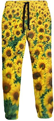 Funny Z Sonnenblume Breite Hochauflösende Tapete Herren Jogginghose Athletic Pant Hose Laufhose Sporthose L