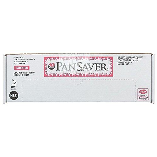 "PanSaver Monolyn Bain Marie Pan Liner 6-7 qt Clear- 9 1/2""Dia x 8 1/5""D 100 Per Case"