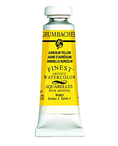 Grumbacher Finest Watercolor Paint, 14ml/0.47 oz., Aureolin Yellow (W003)