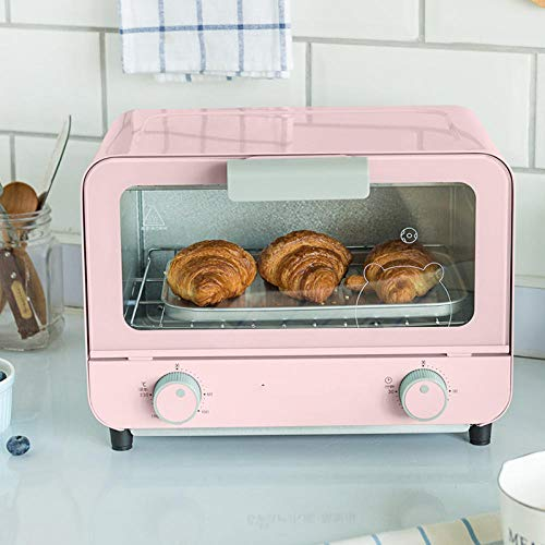 Electric oven, small domestic oven, baking bread-blue