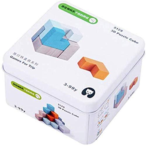 Atrumly Kinder Baby Holzspielzeug, buntes Set für Kinder, frühe Kindheit, kognitives Lernspielzeug, Geschenk