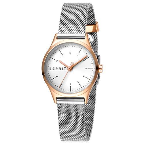 Esprit Bi-Color-Uhr mit Mesh-Armband aus Edelstahl