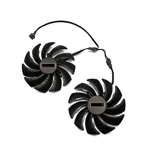T129215SU 88mm GPU refrigerador Gráficos Fan para Redeon Aorus RX580 / 570 para GIGABYTE GV-RX570AORUS GV-RX580AORUS Tarjetas como reemplazo (Blade Color : AB)