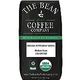 The Bean Coffee Company Organic Peppermint Mocha, Medium Roast, Ground, 16-Ounce Bag