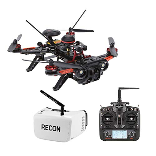 RotorLogic Walkera Runner 250 GPS 1080P HD Race Drone Quad-Copter RTF with Devo 7 Remote and Fat Shark Recon V3 FPV Goggles Headset Combo