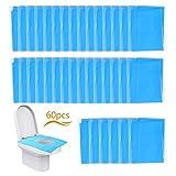 LAITER 60 pezzi Copriwater Usa e Getta Blu Impermeabile Portatile per Hotel Viaggio Ospeda...