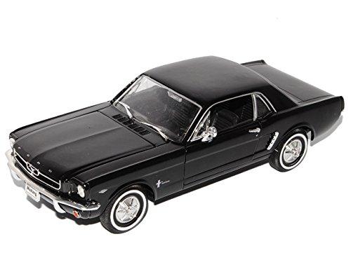 Welly Ford Mustang I Schwarz Coupe 1/2 1964-1966 1/24 Modell Auto mit individiuellem Wunschkennzeichen