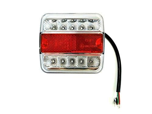 Led-achterlicht met positielicht, remlicht, knipperlicht, kentekenplaatverlichting voor trailers, sleeppers, caravans, aanhangers, vrachtwagen, personenauto's, tractor enz.