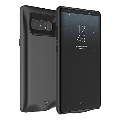 FugouSell Samsung Galaxy Note 8 Ultra Dünnes Akku Case Hülle Handyhülle 5000mAh [Stoßfest] [Anti-Rutsch] Batterie Case eingebautem Akku für Samsung Galaxy Note 8 (Schwarz)