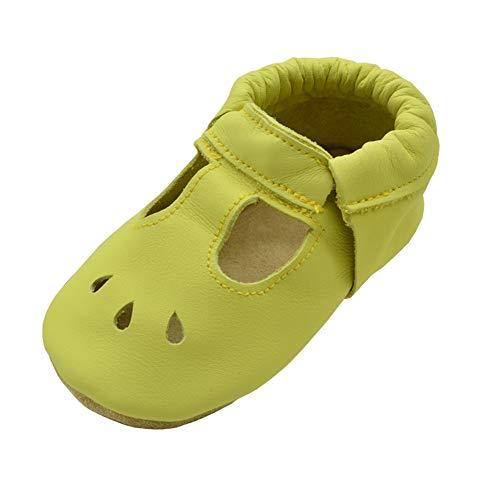 iEvolve Baby Mädchen Jungen Elefant Babyschuhe Baby Weiche Sohle Lederschuhe Baby Lauflernschuhe Krabbelschuhe(Leuchtendes Grün Sandale,18-24 Monate)