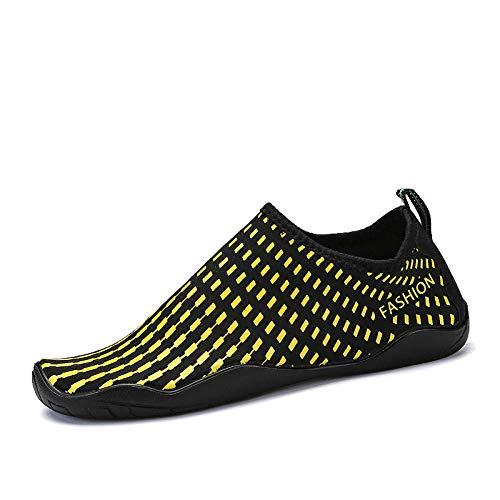Zapatillas Playa Zapatos De Agua A Rayas Unisex Hombres Mujeres Sandalias De Playa Descalzas De Yoga Zapatos De Agua Corriente Arriba Zapatilla De Deporte De Natación De Buceo De Río Seco Rápido-