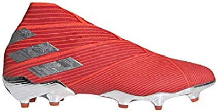 adidas Men's Nemeziz 19+ FG Soccer Cleats (9M, Red/Silver)