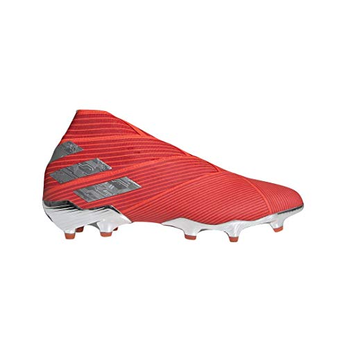 adidas Nemeziz 19+ FG Cleat - Men's Soccer Active Red/Silver/Solar Red, 8.5