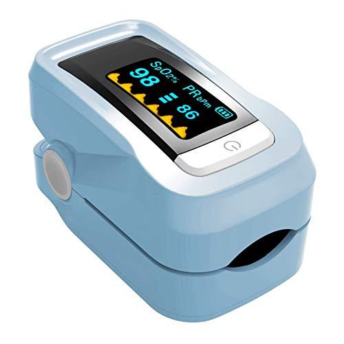 LTLCBB Pulsoximeter, Fingeroximeter Sauerstoffsättigung Messgerät Messen Blue Pulsoxymeterfür die Messung des Puls und der Oximeter am Finger