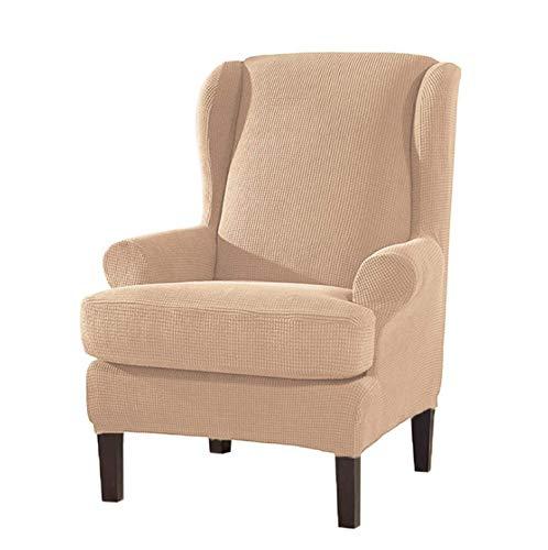 Jonist Fundas para sillas de Orejas de 2 Piezas, duraderas, Suaves, de Alta Elasticidad, Fundas para sillones de Orejas, Protector de Muebles de Licra, Lavable a máquina, Fundas universales para si