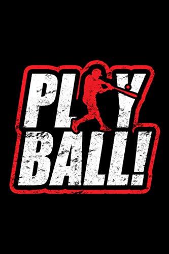 Play Baseball: A5 Liniertes Notizbuch auf 120 Seiten - Baseball Softball Notizheft | Geschenkidee für Baseballspieler, Baseball Spieler, Baseball Vereine und Mannschaften