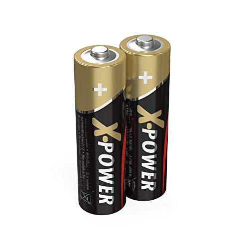 Ansmann X-Power Alkaline Batterie Mignon AA LR6 Longlife Alkalibatterie für extrem hohen Strombedarf (2er Pack), Schwarz, 2 Stück