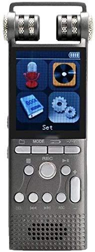 ZouYongKang Grabadora de voz digital activada, 8GB / 16 GB / 32GB Mini grabadora de audio con reducción de ruido de micrófono Vida útil de batería LED USB USB RECARGABLE HD Sound para reuniones con co