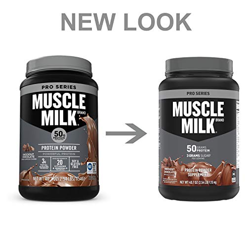Muscle Milk Pro Series Protein Powder, Knockout Chocolate, 50g Protein, 2.47 Pound, 14 Servings