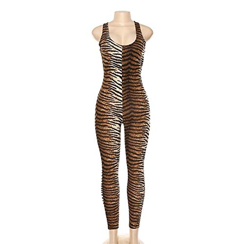 XIAOXINGXING Yoga-Anzug Yoga Set Tiger-Leopard-Druck Fitnessbekleidung Laufen Kleidung Anzug Sexy Sport Overall Fitness-Anzug Frauen-Sport-Klage Workout (Color : Tiger Print, Size : M)