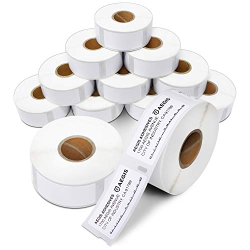 """Aegis - Compatible Multipurpose Labels Replacement for DYMO 30336 (1"""" X 2-1/8"""") Address & Barcode - Use with Labelwriter 450, 450 Turbo, 4XL Desktop Printers (12 Rolls)"""