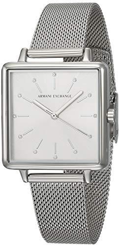 Armani Exchange Lola AX5800 - Reloj de cuarzo para mujer, esfera plateada