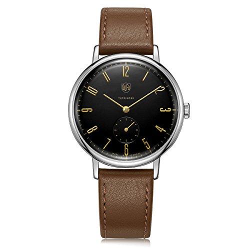 DuFa Unisex Analog Quarz Uhr mit Leder Armband DF-9001-02