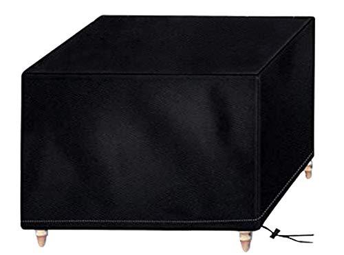 AOBETAK Abdeckplane Gartenmöbel, 210D Winterfest Wasserdicht Oxford Abdeckung mit UV-Schutz-Beschichtung, Quadratischer Schutzhülle für Garten Möbel Gartentisch (125 x 125 x 74 cm) Schwarz