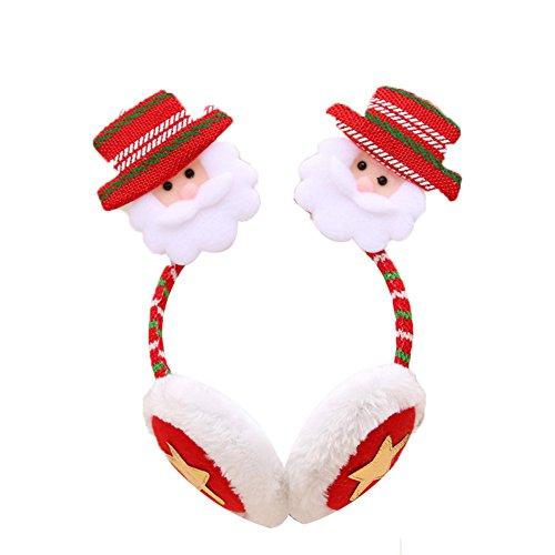 Dosige Cache-Oreilles D'hiver Cache-Oreilles de Noël Cache-Oreilles D'écoute de Noël Cadeau Décoration de Noël - Père Noël