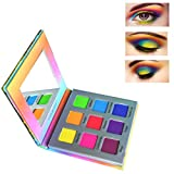 Highly Pigmented Eyeshadow Palette,YMH BEAUTE 9 Color Bright Eye Makeup Palette Colorful Matte Eye Shadow Palettes Long Lasting Waterproof Cruelty-free, Rainbow