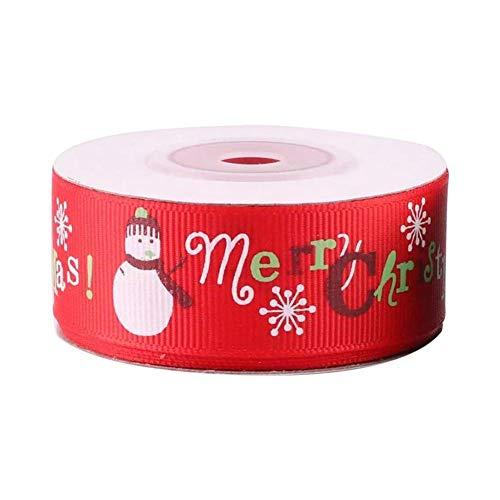 Suppemie 1 Rolle 9M Weihnachtsband Geschenkband Geschenkverpackungsband Für Geschenkverpackungen, Haarschmuck Und Heimdekoration