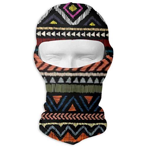 Máscara solar unisex, máscara facial completa, patrón étnico bordado sin costuras, máscara de…