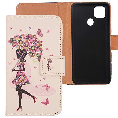 Lankashi PU Flip Leder Tasche Hülle Hülle Cover Silikon TPU Schale Handytasche Schutzhülle Etui Skin Für ZTE Blade 10 Smart/V Smart / V2020 Vita 6.5