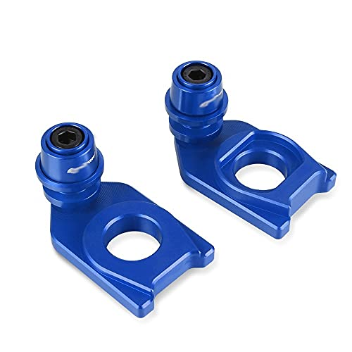 GUIFUG Motorcycle CNC Swingarm Spools Sliders Chain Adjustment Block Frame Rear Wheel Axle Stand Hook Set/Fit For SYM MAXSYM TL 500 TL500 (Color : Blue)