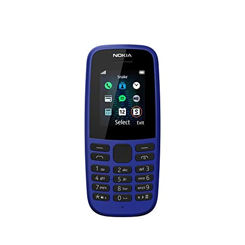 Nokia 105 2019 (Single SIM, Blue)