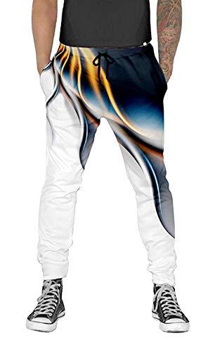 UNIFACO Men Women Jogging Pants Tentacle Print Sweatpants Graphic Sportswear Closed Bottom