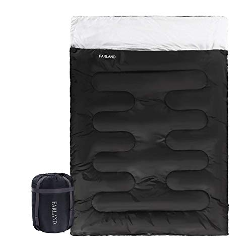 Double Sleeping Bag 20 Degrees for Adults Teens Kid with Compression Sack Portable and Lightweight for 4 Season Camping, Hiking,Waterproof,Traveling, Backpacking and Outdoor