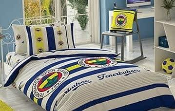 Fenerbahce - Juego de ropa de cama con licencia original, color blanco y gris
