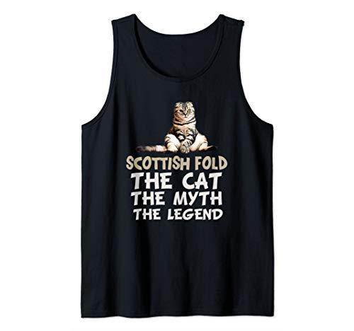 Scottish Fold Cat Funny Meme Cute Kitten Gifts Tank Top