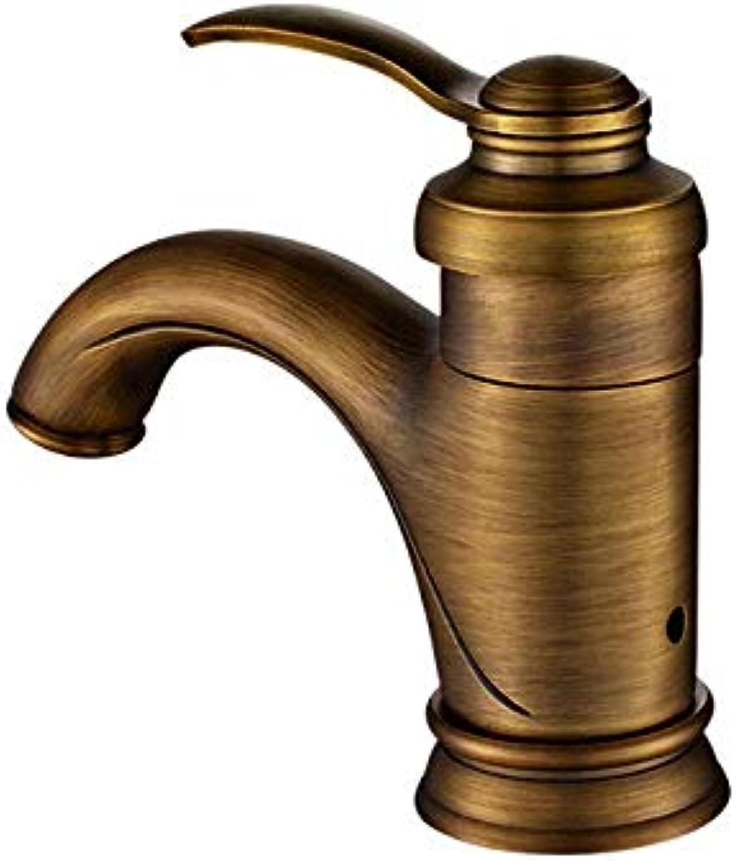 All-kupfer antik heies und kaltes wasser Amerikanischen wasserhahn waschen retro tisch unter dem waschraum wasserhahn