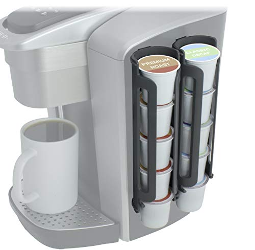 Sidekick Coffee Pod Dispenser (2 Pack) Mounts To Side Of Machine, Holder for Keurig K Cups (2 Pack/Holds 10 K-Cups)
