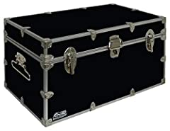 DURABLE - Made to last; strong enough to hold 150 pounds inside the trunk VERSATILE - Perfect for college students; can be transformed into a nightstand, coffee table, sit-down bench, or stand-on ladder at camp, college, or at home FULL SIZE STORAGE ...